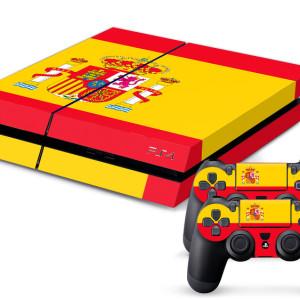 Playstation 4 spanien skin ps4skin folie aufkleber