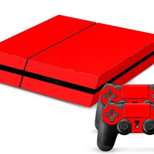 playstation 4 folie aufkleber kappe skin rot red ps4 sony ps3 ps2 ps1 ps one gaming gamer